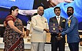 The President, Shri Ram Nath Kovind presenting the Indira Gandhi Award for best debut film of a Director to Pampally for the feature film – SINJAR (Jasari), at the 65th National Film Awards Function, in New Delhi.JPG