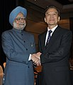The Prime Minister, Dr. Manmohan Singh with the Chinese Premier, Mr. Wen Jiabao, at a Bilateral Meeting, on the sidelines of the 9th ASEAN-India Summit and the 6th East Asia Summit, in Bali, Indonesia on November 18, 2011.jpg