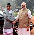 The Prime Minister of Nepal, Shri K.P. Sharma Oli with the Prime Minister, Shri Narendra Modi, at the Ceremonial Reception, at Rashtrapati Bhavan, in New Delhi on February 20, 2016 (2).jpg