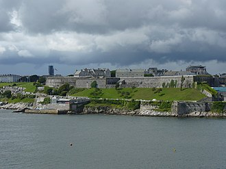 Royal Citadel, Plymouth - The Royal Citadel as seen from Mount Batten