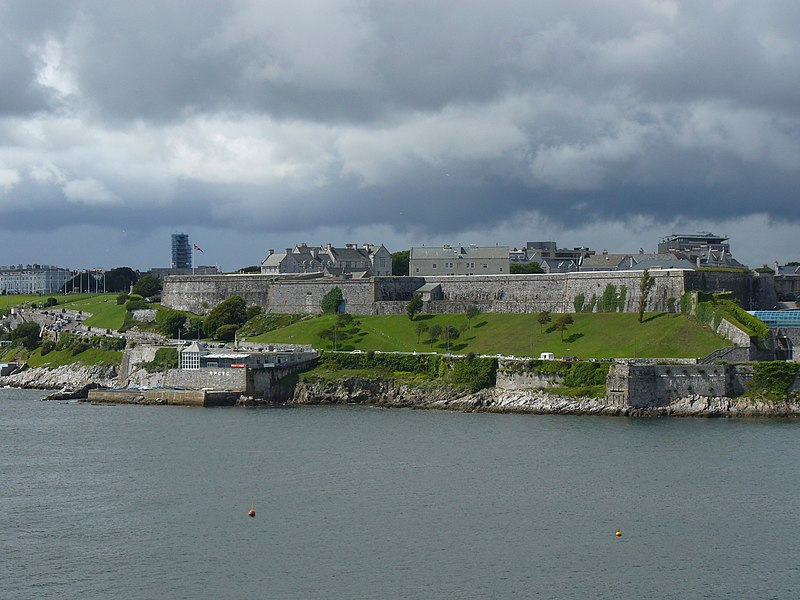 The Royal Citadel, Plymouth from Mount Batten.jpg