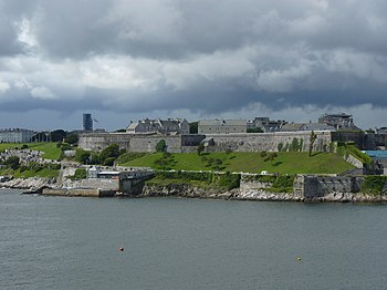 The Royal Citadel as seen from Mount Batten