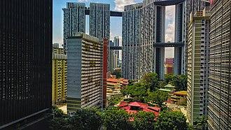 The Pinnacle@Duxton - Image: The Tanjong Pagar Housing Estate with the Pinnacle@Duxton in the background