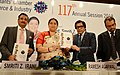 The Union Minister for Textiles, Smt. Smriti Irani releasing a book at the 117th AGM Merchants' Chamber of Commerce and Industries, in Kolkata on September 29, 2018.JPG