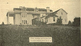 Shri Yogendra - The Yoga Institute  in Harriman, New York in 1920