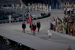 The athletes from Bermuda entering the stadium at the opening ceremonies of the 2010 Winter Olympics.jpg
