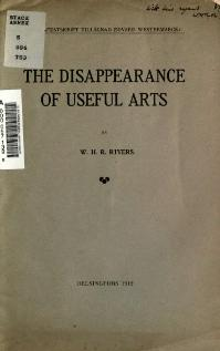 The disappearance of useful arts.djvu