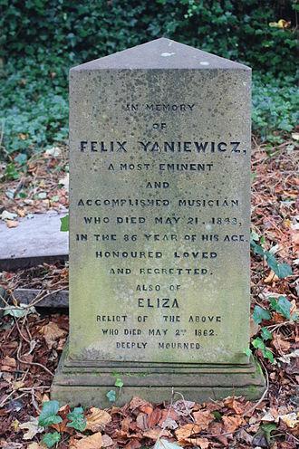 Feliks Janiewicz - The grave of Felix Yaniewicz, Warriston Cemetery, Edinburgh