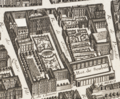 The grounds of the Hôtel de Soubise and Hôtel de Strasbourg (present Hôtel de Rohan) from the Turgot map of Paris circa 1737.png