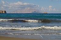The island of Kassos in the morning. View from the Agios Nikolaos Beach. Karpathos, Greece.jpg