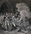 The liberation of a manacled prisoner during the taking of t Wellcome V0041873.jpg