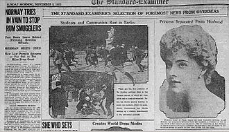 Standard-Examiner - A 1922 front page of The Standard-Examiner
