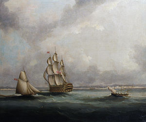 Thomas Buttersworth - A ship-of-the-line off Cadiz.jpg