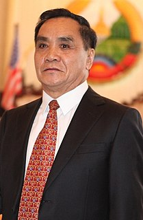 Thongsing Thammavong Prime Minister of Laos