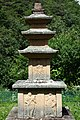 Three-story Stone Pagoda at Gwandeok-ri in Uiryeong County, Korea.jpg