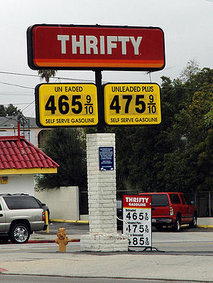Psychological pricing - Example of psychological pricing at a gas station