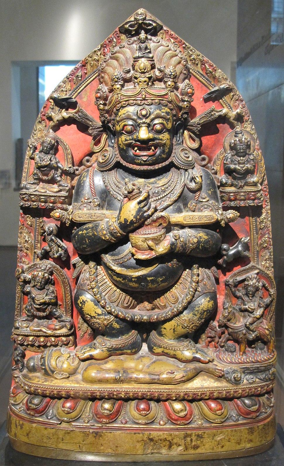 Tibet, mahakala, guardiano della dottrina sotto l'aspetto gur-gyi mgon-go, 1292