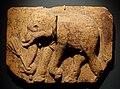 Tile with elephant, inner court of the Palace of Panduvasnuvara, central Sri Lanka, 12th century AD, terracotta - Linden-Museum - Stuttgart, Germany - DSC03741.jpg