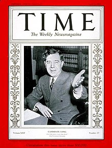 Long on the April 1935 cover of Time magazine