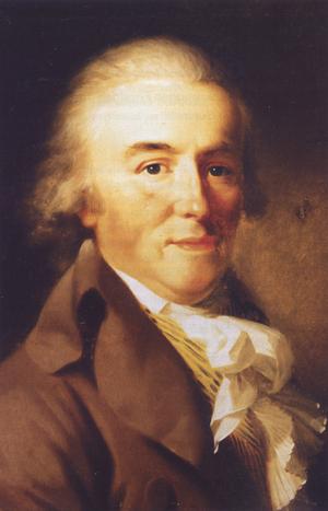Friedrich Justin Bertuch - Friedrich Justin Bertuchs; portrait by Johann Friedrich August Tischbein (1796)