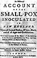 Title-Page of An historical account of the Smallpox... Wellcome L0002210.jpg