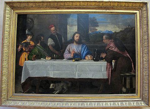 Tiziano, pellegrini di emmaus, 1530 ca..JPG