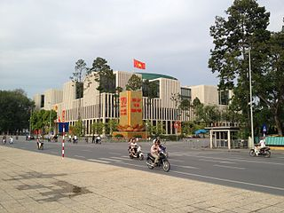The National Assembly of Vietnam building in Hanoi.
