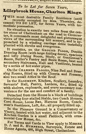 DoubleTree by Hilton Cheltenham - Rental notice of 1865
