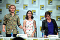 Toby Regbo, Adelaide Kane & Megan Follows (14583607280).jpg