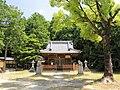 Tokuda Hachiman-sha shrine haiden, Kutsukake-cho Toyoake 2018.jpg