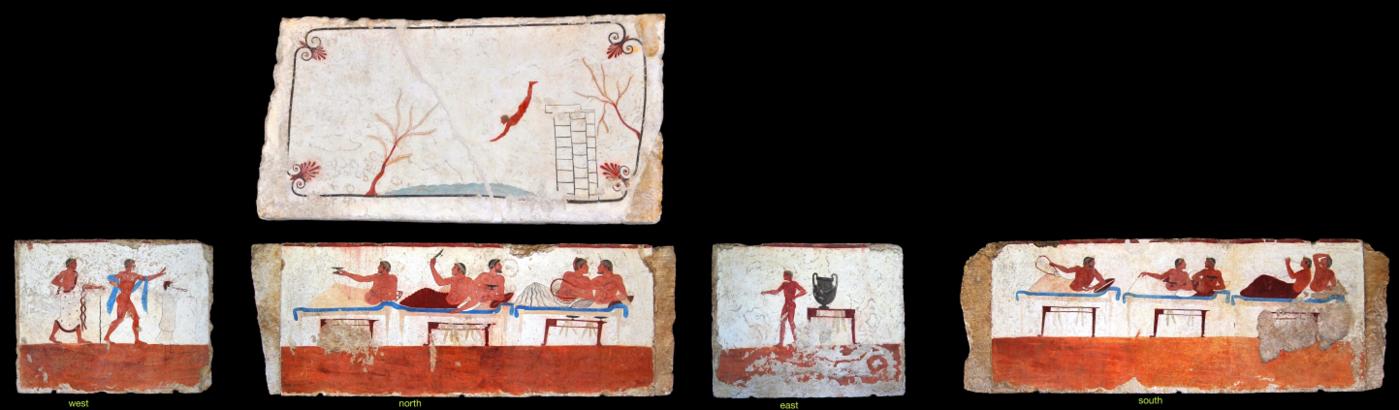 Fresques de la Tombe du Plongeur