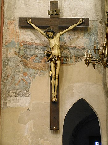 English: Toruń, St. Mary's church, crucifix (t...