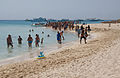 Tourist and the boats in Paradise Island, Hurghada.jpg