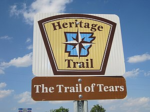 Arkansas Heritage Trails System - Image: Trail of Tears sign Shearerville 2012 04 01 012