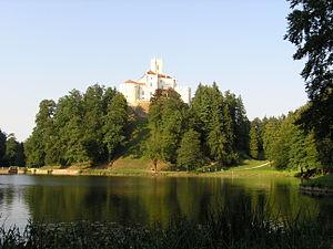 Lake Trakošćan - Lake Trakošćan and Trakošćan castle