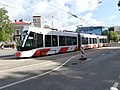 Tram 501 approaching Viru Tram Stop Parnu mnt Kesklinn Tallinn 31 May 2015.jpg