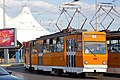 Tram in Sofia in front of Central Railway Station 2012 PD 013.jpg