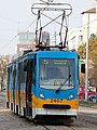 Tram in Sofia near Russian monument 009.jpg