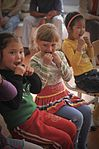 Transit Center at Manas meet with children from the Vasilievka school 110413-F-JH117-039.jpg