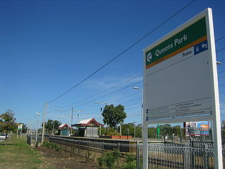 Queens Park railway station, Perth Railway station in Perth, Western Australia