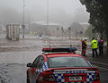 Trapped woman on a car roof during flash flooding in Toowoomba 1.jpg
