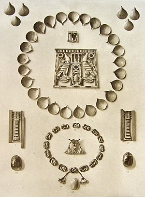 Knot (hieroglyph) - Image: Tresor dahchour sesostris 3 8