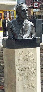 Bronze bust in Bedford.