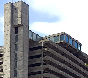 Get Carter - Trinity Square car park, with Brumby's rooftop cafe, was demolished in 2010