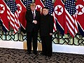 Trump posted a photo with Kim at Hanoi summit.jpg
