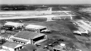 Tan Son Nhut Air Base - Tan Son Nhut Air Base – 1962. The uncrowded flight line reflects the level of USAF/SVNAF activity which would increase dramatically after the 1964 Gulf of Tonkin Resolution.