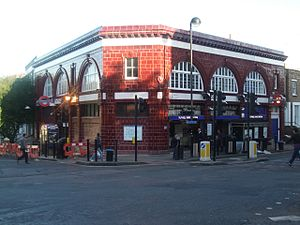 Junction Road - Tufnell Park tube station on Junction Road.