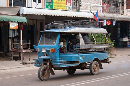 A &quotjumbo&quot tuk-tuk in Savannakhet, Laos - Auto rickshaw