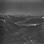 Turnagain Arm Glacier, terminus of valley glacier in U-shaped valley, September 3, 1977 (GLACIERS 6908).jpg