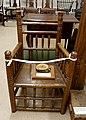 Turned armchair, replica of 17th century Reverend John Eliot chair, 1886-1888, made from wood of the Avery Oak - Dedham Historical Society - Dedham Massachusetts - DSC04201.jpg